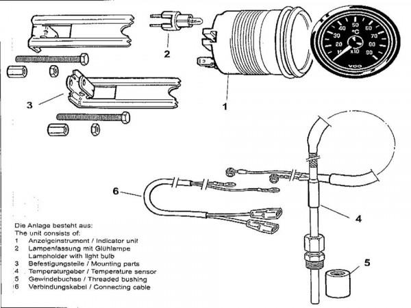 VDO Pyrometer-Anlage