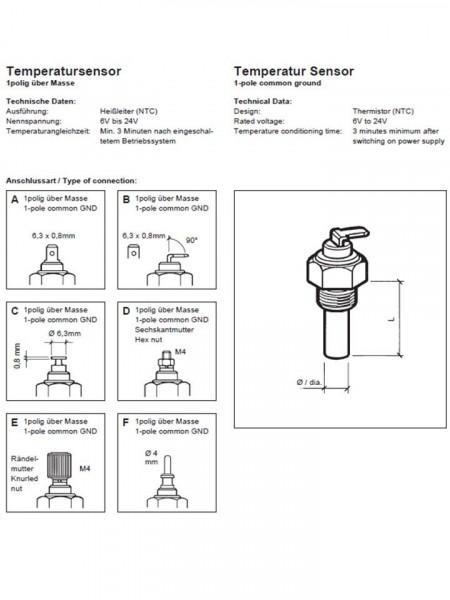 Temperatursensor Motoröl