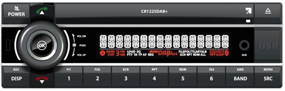 12V Radio Kienzle CR1225DAB+