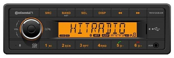 12V Radio Conti TR7412UB-OR