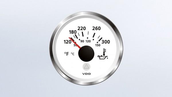 VDO Temperaturanzeiger 12/24V 52Ø