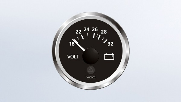 VDO Voltmeter 24V 52Ø 18-32V
