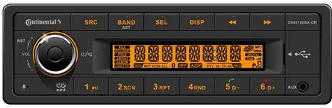 12V Radio Conti CR4512UBA-OR