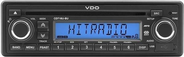 24V Radio VDO CD726U-BU