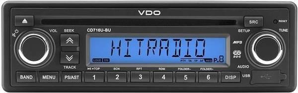 12V Radio VDO CD716U-BU