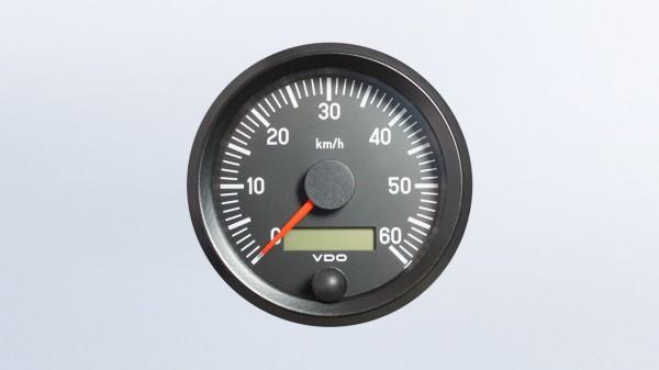 VDO Tacho 12/24V 100Ø 60km/h