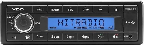 12V Radio VDO TR712UB-BU
