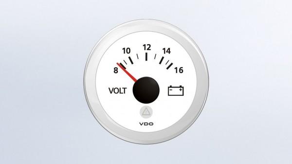 VDO Voltmeter 12V 52Ø 8-16V